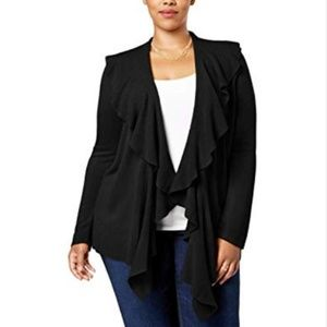 Karen Scott Macy's Plus Ruffle LuxSoft Cardigan 2X